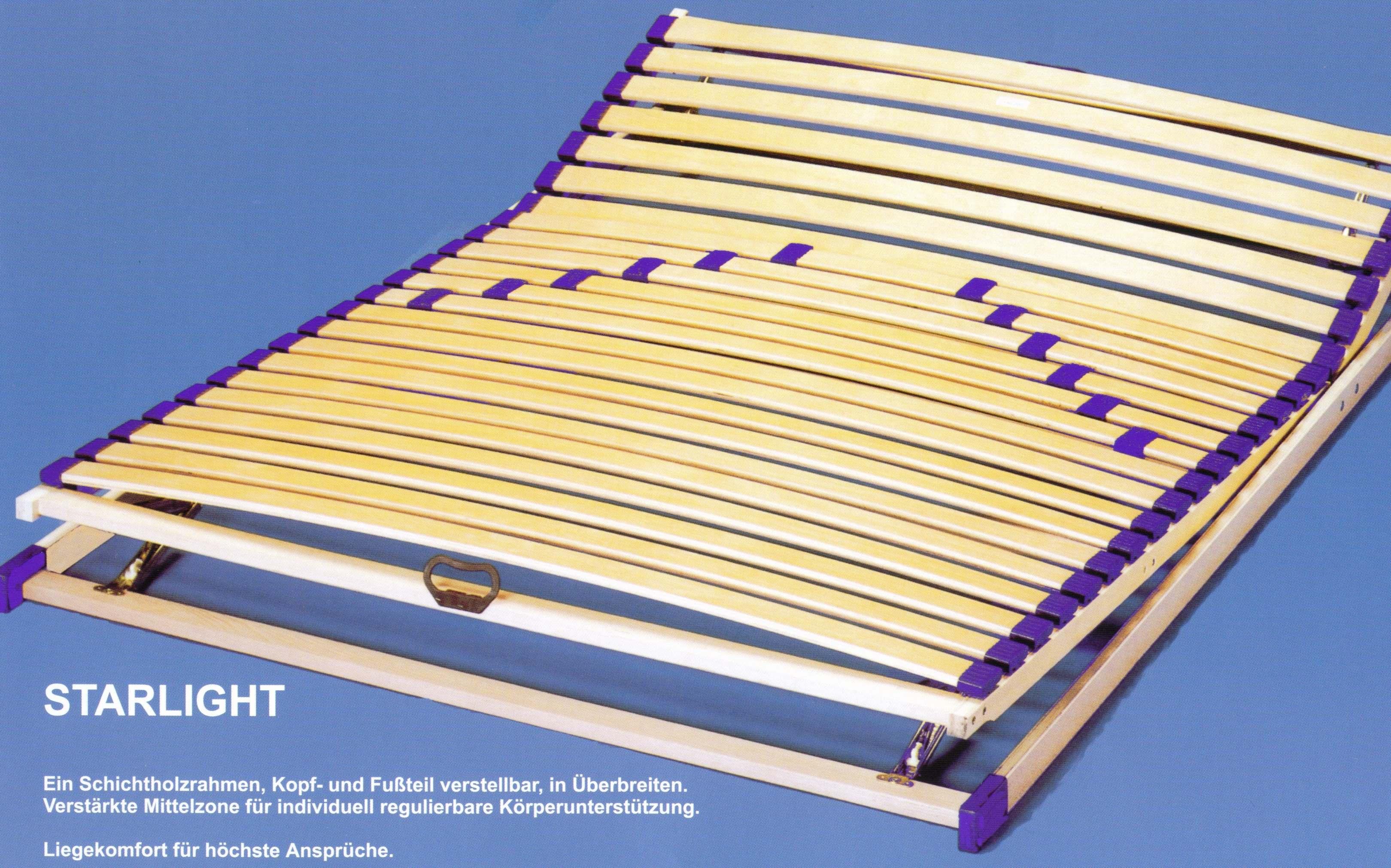 mehr zonen lattenrost starlight 140x190 160x220 alle gr en forster lattenroste. Black Bedroom Furniture Sets. Home Design Ideas