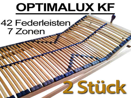 2x 7 Zonen Lattenrost Optimalux KF, 42 - 48 Federleisten - Set-Angebot