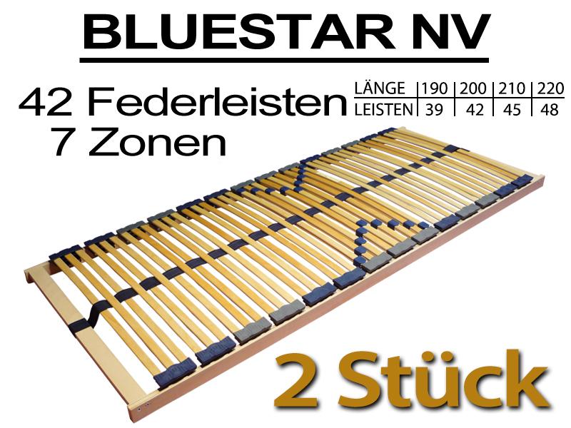 2 st ck 7 zonen lattenrost 70x200 bluestar 42 f nv 2x 70x200 140x200 forster lattenroste. Black Bedroom Furniture Sets. Home Design Ideas